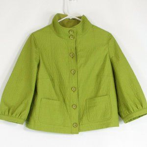 Avocado green CARLISLE 3/4 sleeve jacket 2